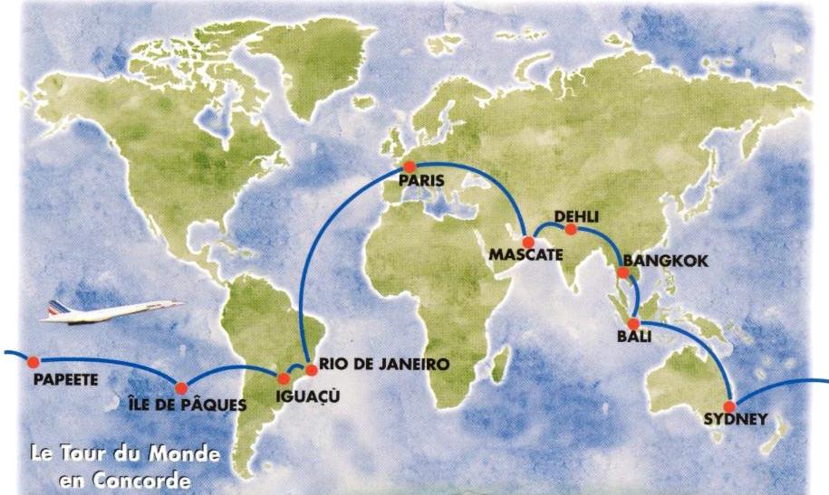 Le tour du monde en concorde de mme guillon for Vol interieur argentine