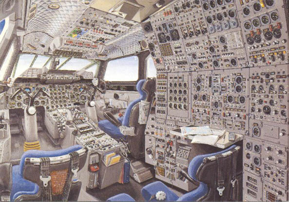 Le tour du monde en concorde de mme guillon for Interieur d avion air france